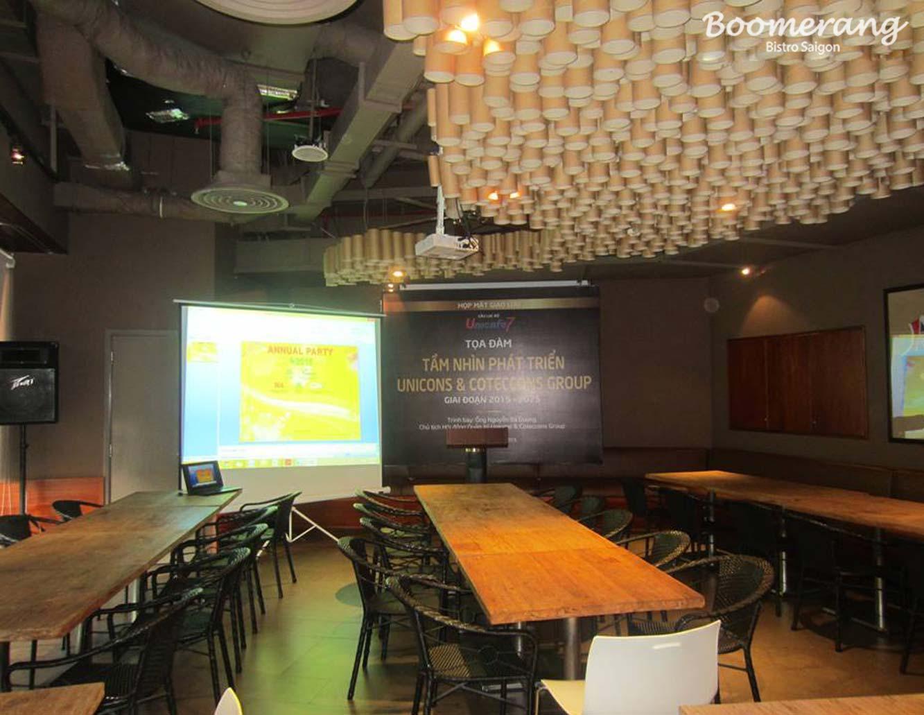 Phòng hợp nhà hàng Boomerang Bistro Saigon