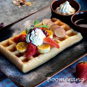 Boomerang waffle
