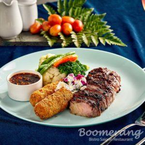 black pepper crusher beef steak
