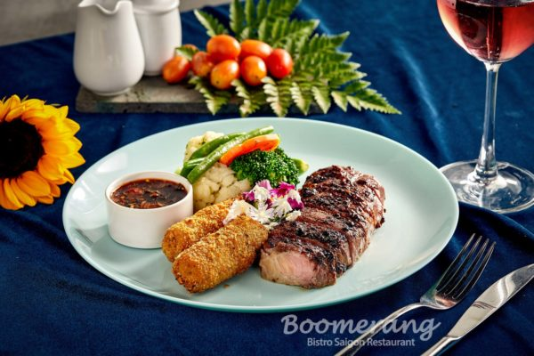 black pepper crusher beef steak