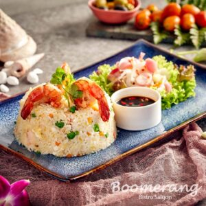Boomerang seafood fried rice