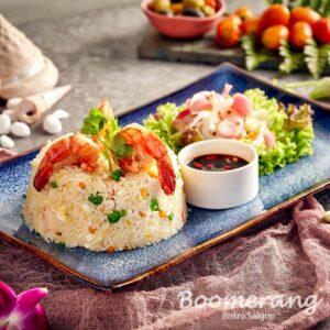 Boomerang seafood fried rice