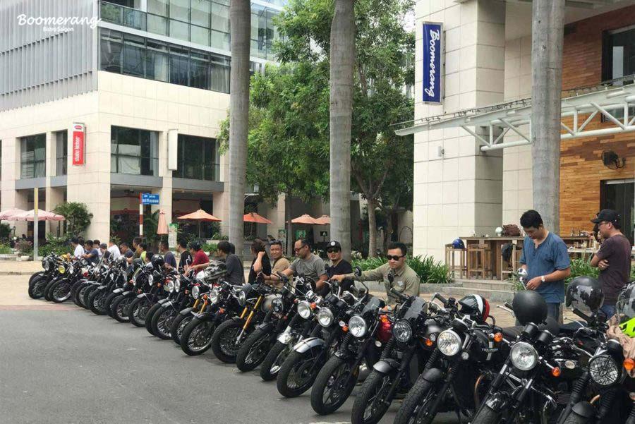 Dàn siêu xe moto đổ bộ tại nhà hàng Boomerang