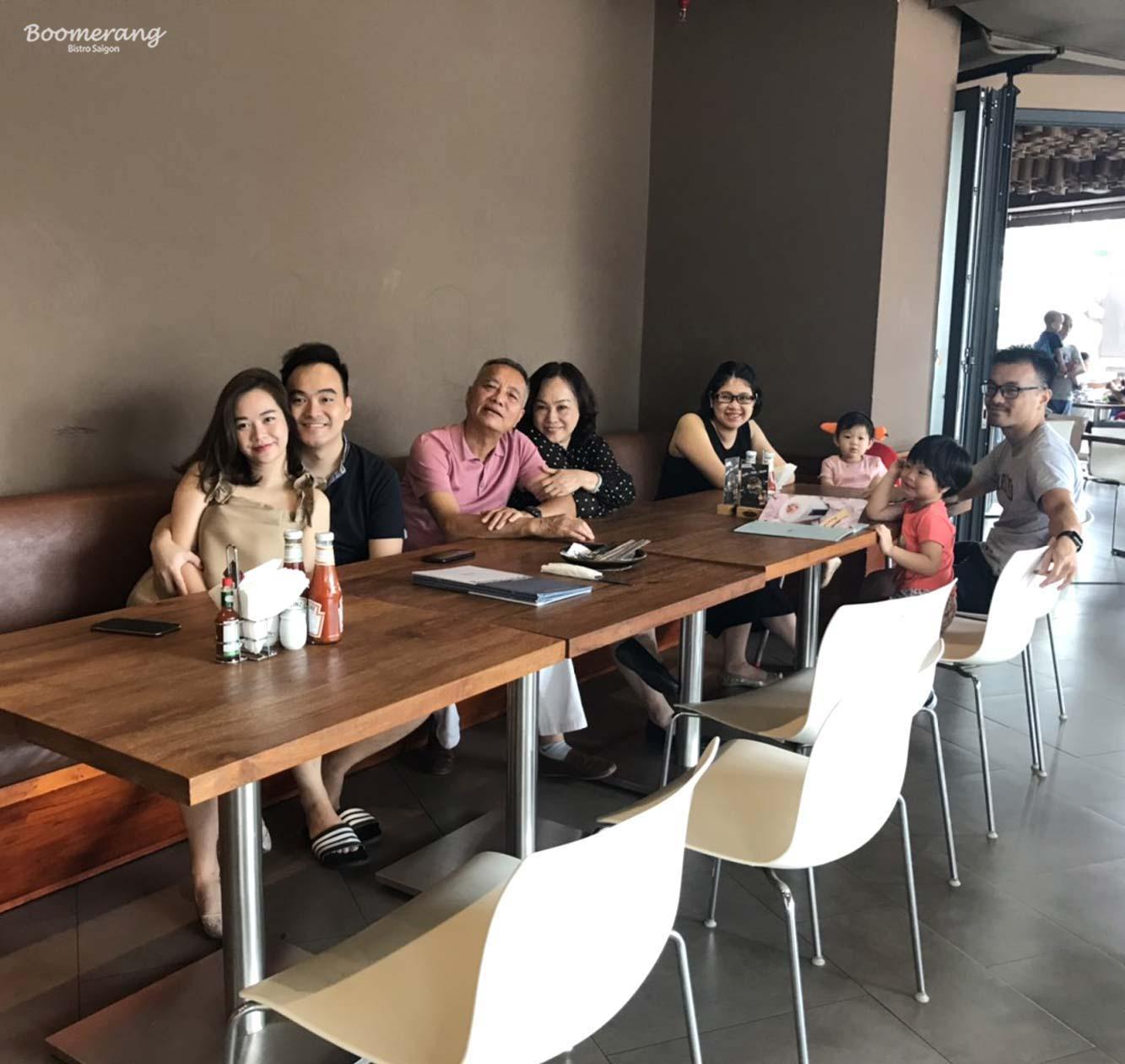 Ngày gia đình nhà hàng Boomerang
