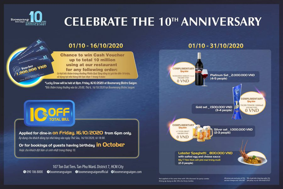 Celebrate Our 10th Birthday With Marvelous Special Offers