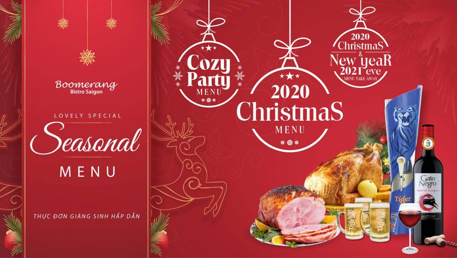 LOVELY SPECIAL MENU FOR A MERRY CHRISTMAS AT BOOMERANG