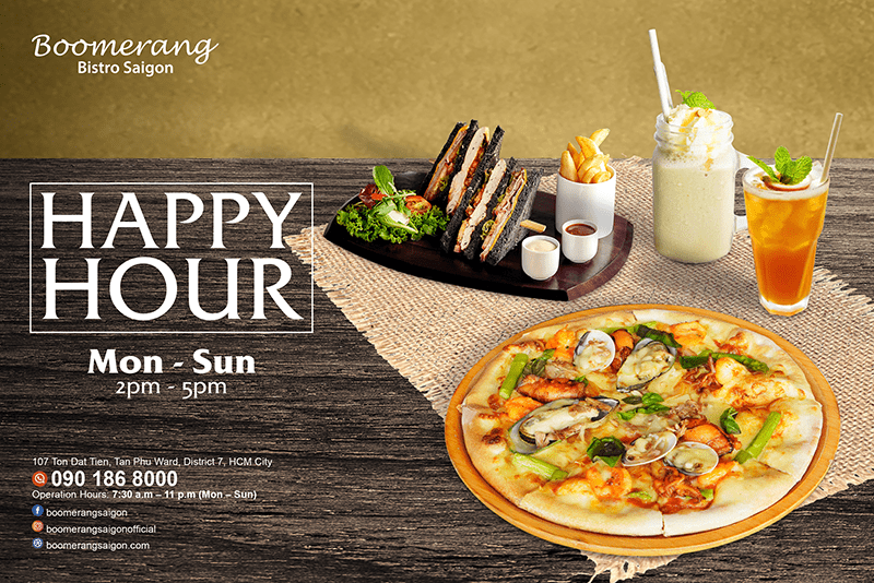 HAPPY HOUR – SURPRISE OFFER FROM 2PM – 5PM