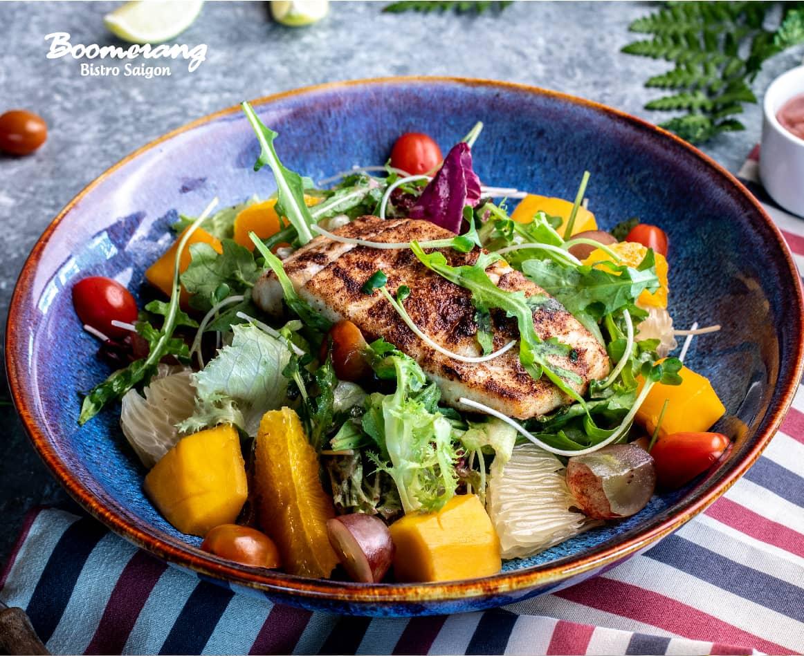 Cajun Barramundi Salad
