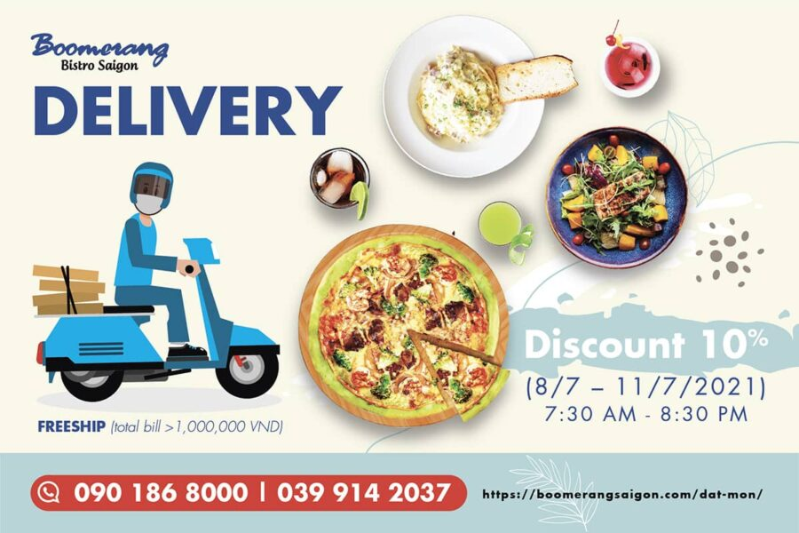 BOOMERANG'LL BE BACK – ONLY AVAILABLE ON DELIVERY
