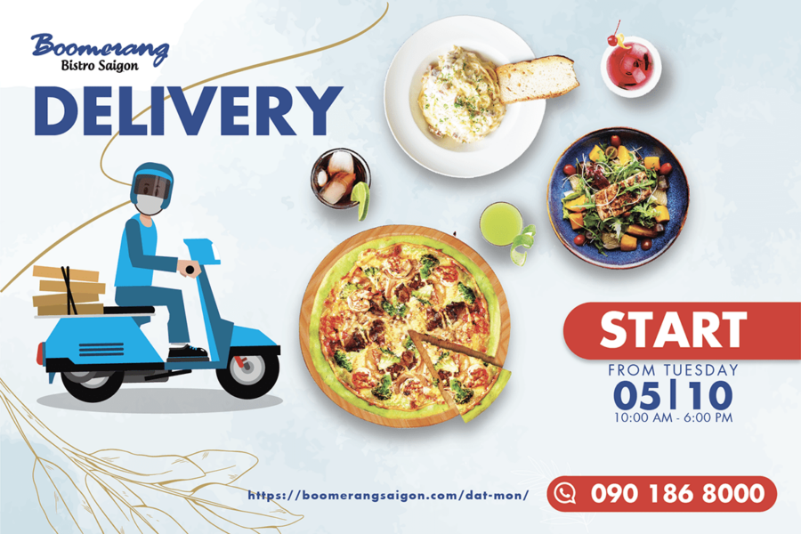 BOOMERANG DELIVERY – BRING DELICIOUS FOOD TO YOUR HOME